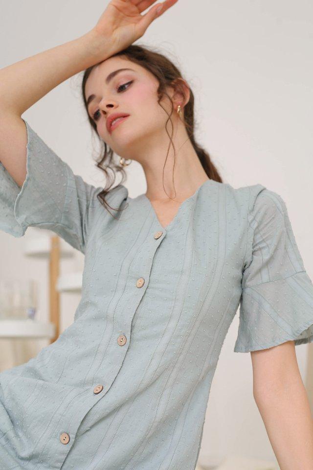 ELLA SWISS DOT DRESS JADE