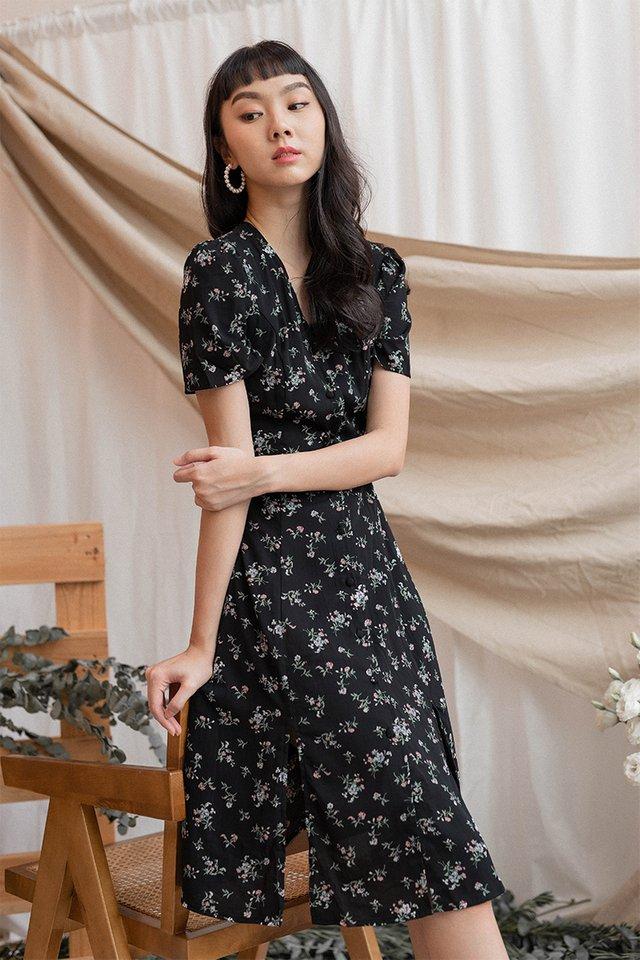 SIERA DUO SLIT DRESS BLACK