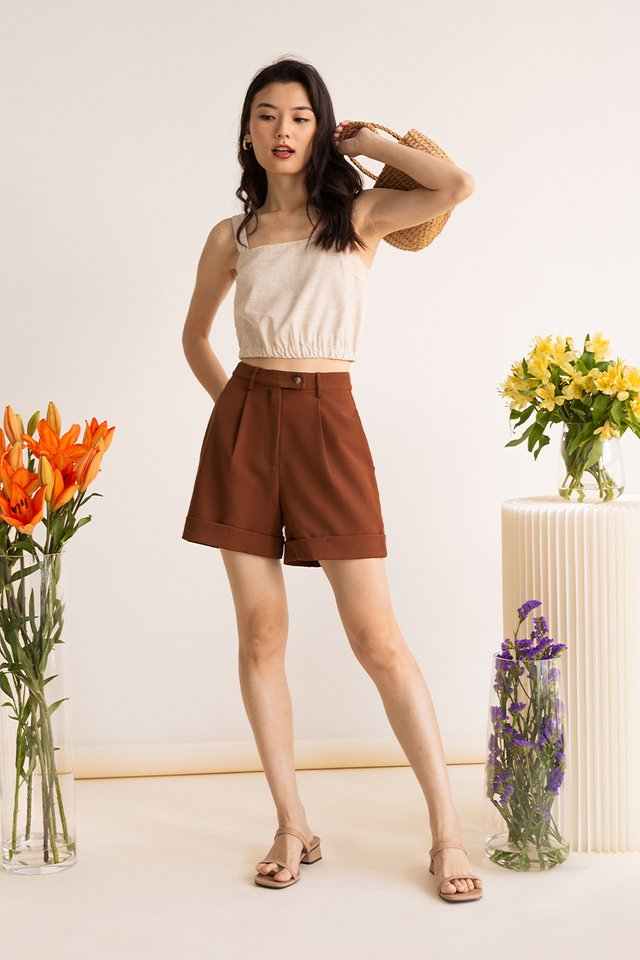 (BACKORDER) ANDRE CUFFED SHORTS TOFFEE