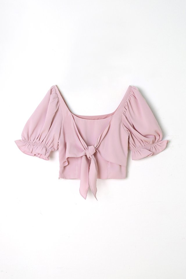 CHARLOTTE TIE FRONT TOP LILAC