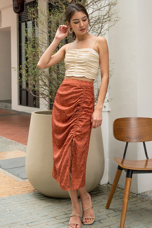 ADELE RUCHED CROP TOP NUDE