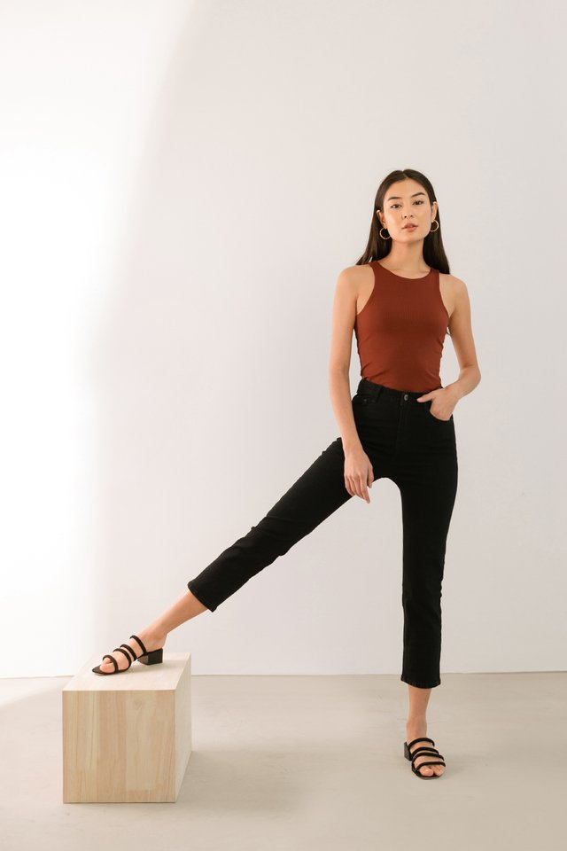 MAX HIGH RISE JEANS BLACK