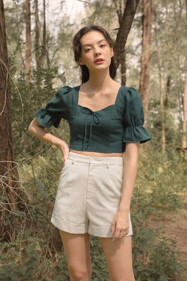 HEIDI SWEETHEART TOP FOREST