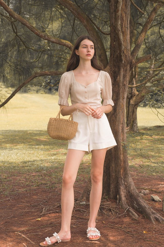 JULIET PEARL BUTTON TOP NUDE