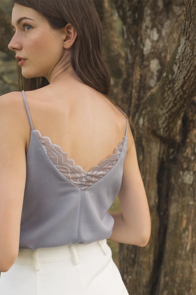 LEANNE LACE CAMISOLE DUSTY BLUE