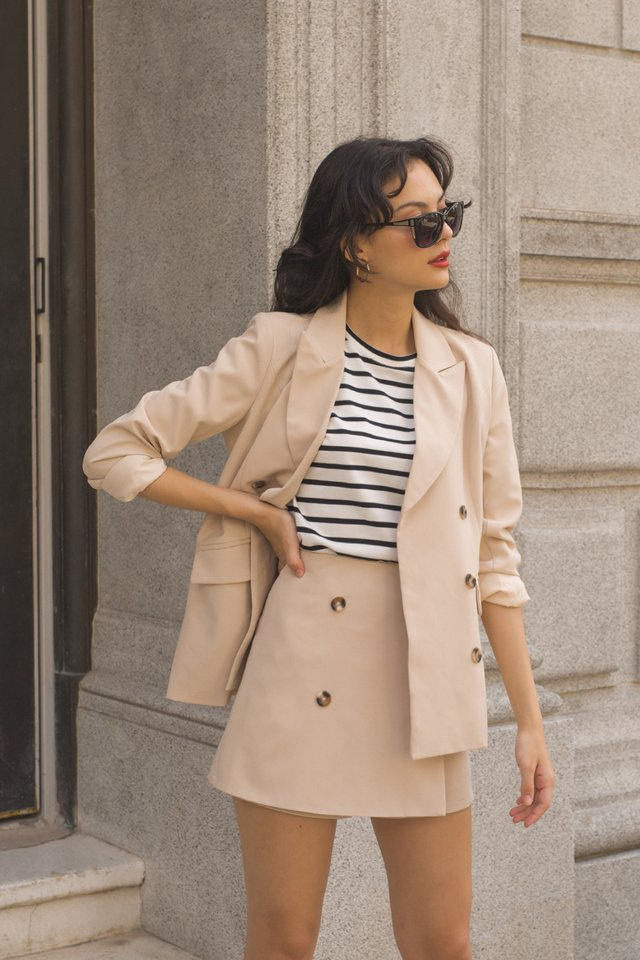 DOMINIQUE OVERSIZED BLAZER NUDE