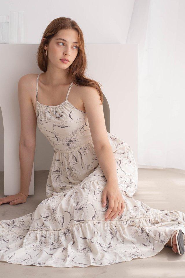 ESTELLE MAXI DRESS TAUPE