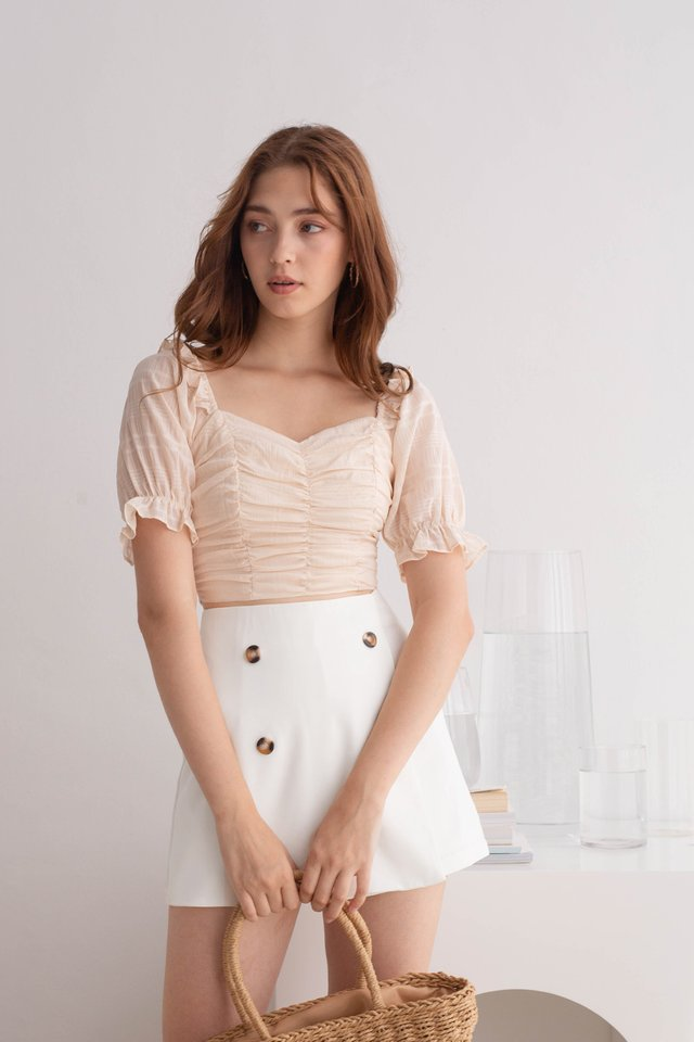 MADDIE RUCHED TOP NUDE