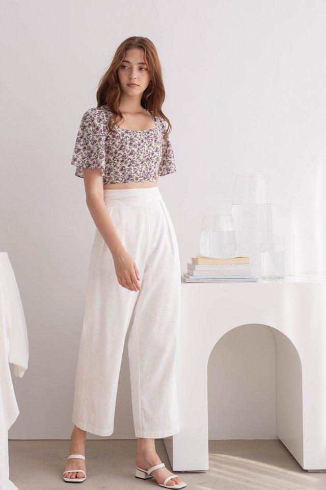 SHALOM LINEN PANTS WHITE