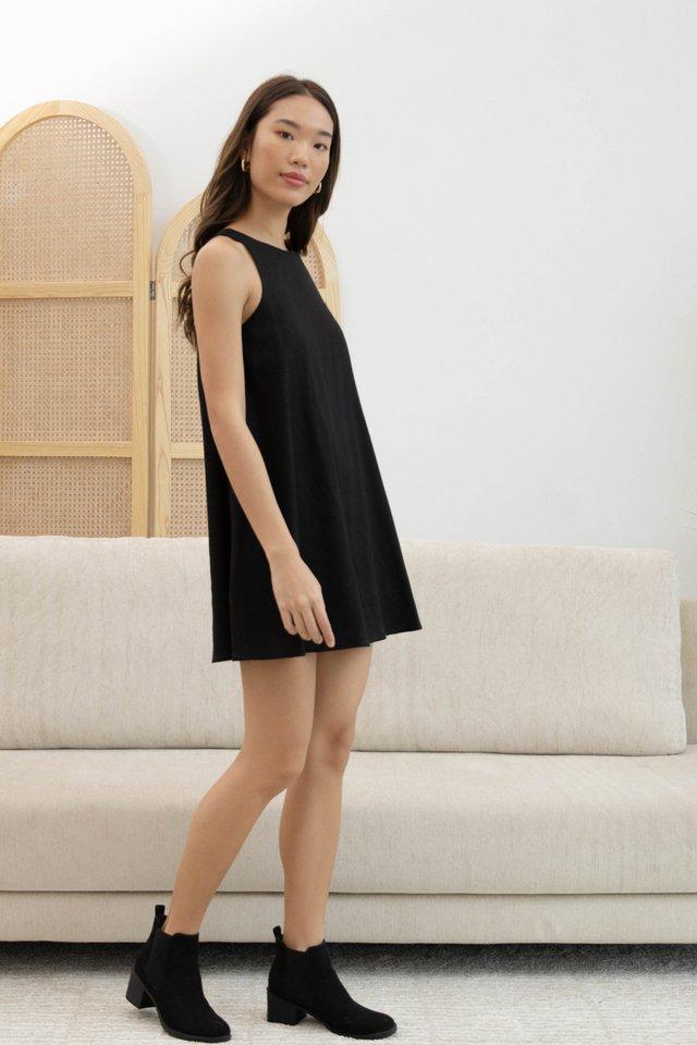 ALEGRA RACER DRESS BLACK