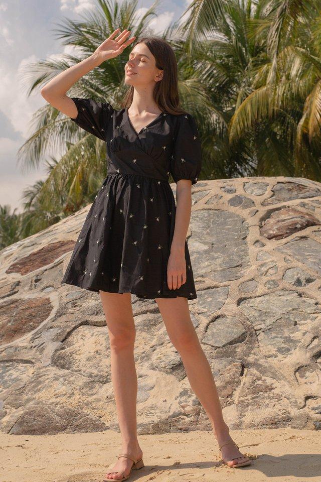 ALIXE POPLIN DRESS BLACK