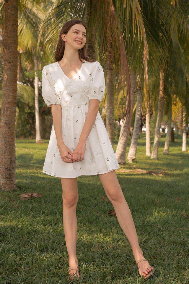 ALIXE POPLIN DRESS WHITE