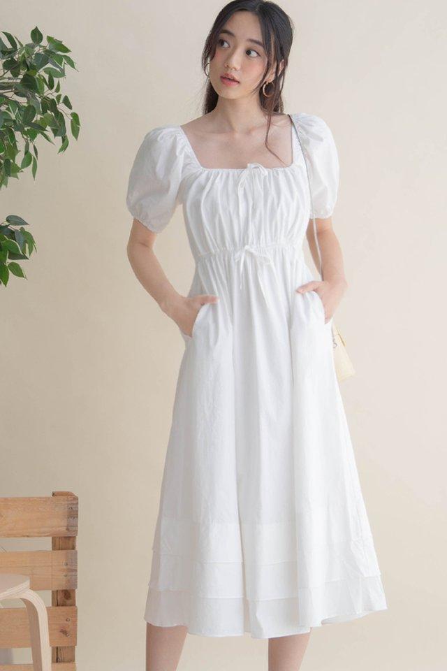 HANA POPLIN DRESS WHITE