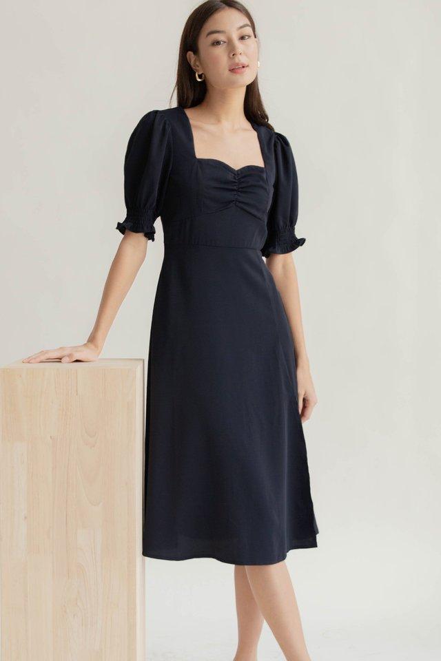COSETTE SLIT DRESS NAVY