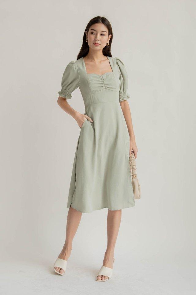 COSETTE SLIT DRESS SAGE
