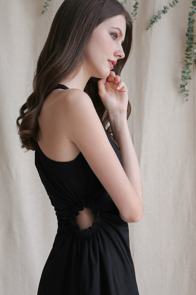 CARRIE CUT OUT DRESS BLACK