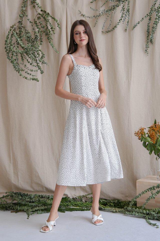 NATALIA SLIT DRESS WHITE